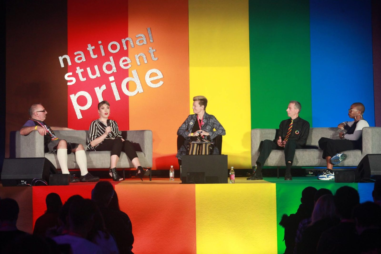 Paris Lees and Peter Tatchell at National Student Pride 2019